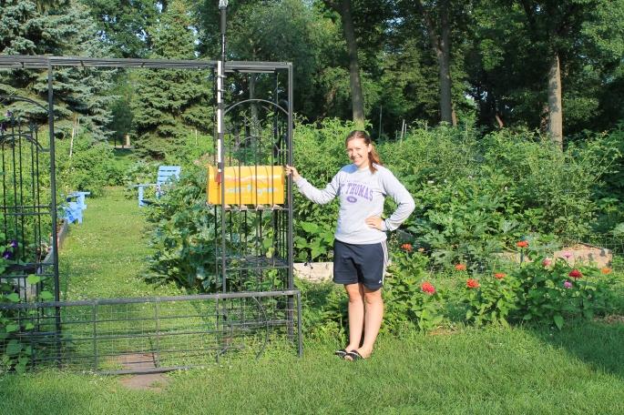 Haley Zimmerman at the UST Stewardship Garden. July 2014